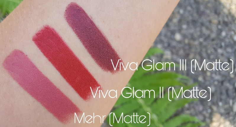 Viva Glam II III Mehr Matte MAC Cosmetics Lipsticks