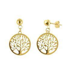 stalen-oorbellen-goldplated-tree-of-life1