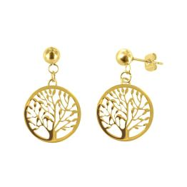stalen-oorbellen-goldplated-tree-of-life1