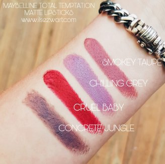 SWATCHES MATTE LI|PSTICK MAYBELLINE NEW YORK