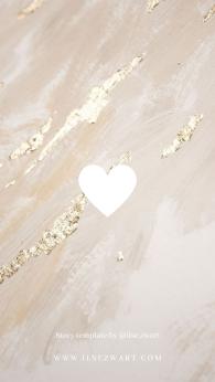 Story template by @ilse.zwart Instagram Highlights Heart Golden Marble