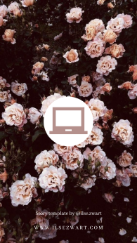 Story template by @ilse.zwart Roses Laptop Instagram Highlight Icons